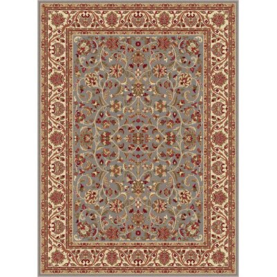 Clarence Blue Area Rug Rug Size: 53 x 73