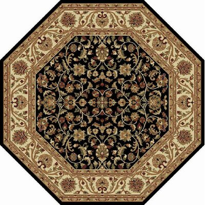 Clarence Black/Brown Area Rug Rug Size: Octagon 6