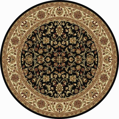 Clarence Black/Brown Area Rug Rug Size: Round 53