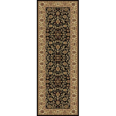 Clarence Black/Brown Area Rug Rug Size: Runner 2 x 8