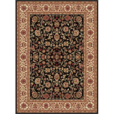 Clarence Black Area Rug Rug Size: 53 x 73
