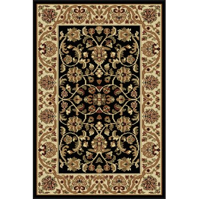 Clarence Black Area Rug Rug Size: 2 x 3