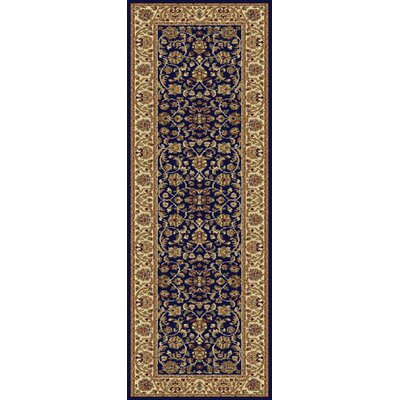 Clarence Navy/Blue Area Rug Rug Size: Runner 2 x 8