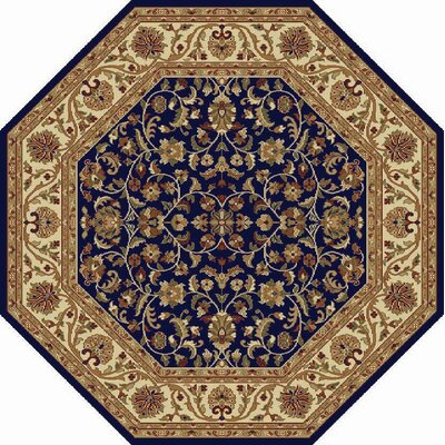 Clarence Navy/Blue Area Rug Rug Size: Octagon 6