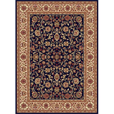 Clarence Navy/Blue Area Rug Rug Size: 53 x 73