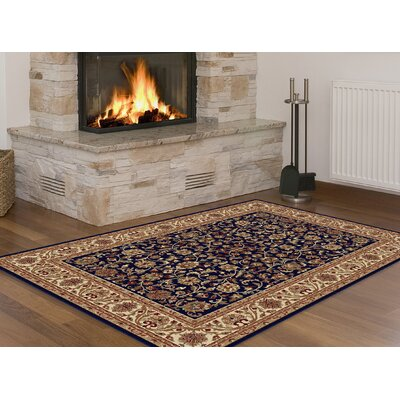 Clarence Navy/Blue Area Rug Rug Size: Rectangle 9 x 12