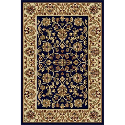 Clarence Navy/Blue Area Rug Rug Size: 2 x 3