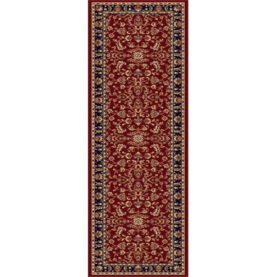 Clarence Red/Navy Blue Area Rug Rug Size: Runner 2 x 8