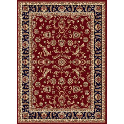 Clarence Red/Navy Blue Area Rug Rug Size: Rectangle 9 x 12