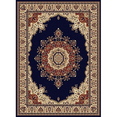 Clarence Navy/Blue Area Rug Rug Size: Rectangle 5 x 8