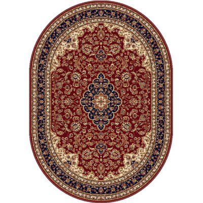 Clarence Red Area Rug Rug Size: Oval 7 x 10