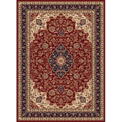 Clarence Red Area Rug Rug Size: 67 x 96