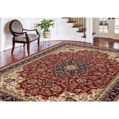 Clarence Red Area Rug Rug Size: Rectangle 7 x 10
