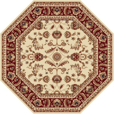 Clarence Beige Area Rug Rug Size: Octagon 53