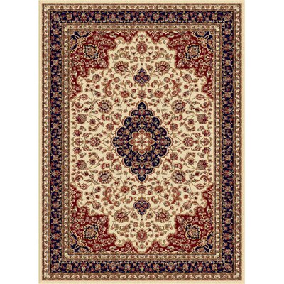 Clarence Beige Area Rug Rug Size: 89 x 123