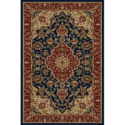 Clarence Navy Area Rug Rug Size: 67 x 96