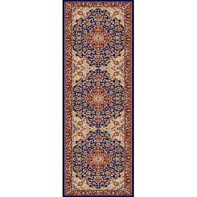 Clarence Navy Area Rug Rug Size: Runner 27 x 73