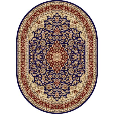 Clarence Machine Woven Polypropylene Area Rug Rug Size: Oval 7 x 10