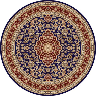 Clarence Machine Woven Polypropylene Area Rug Rug Size: Round 6