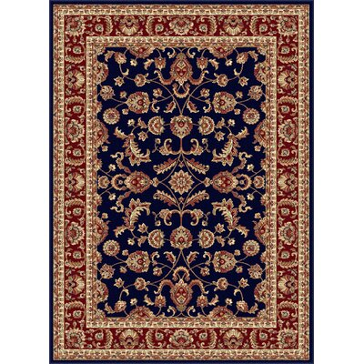 Clarence Navy Area Rug Rug Size: 53 x 73