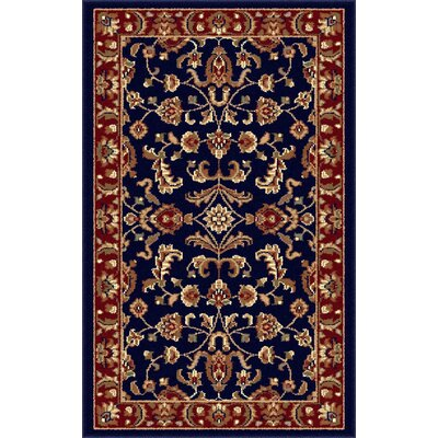 Clarence Navy Blue/Red Area Rug Rug Size: Rectangle 5 x 8