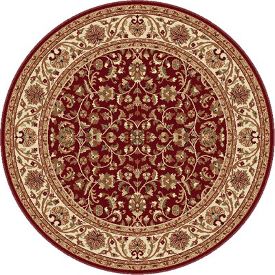 Clarence Red Area Rug Rug Size: Round 5'3