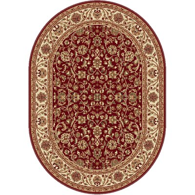 Clarence Red Area Rug Rug Size: Oval 5 x 8