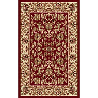 Clarence Red Area Rug Rug Size: 2 x 3
