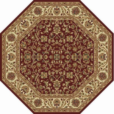 Clarence Red Area Rug Rug Size: Octagon 5'3
