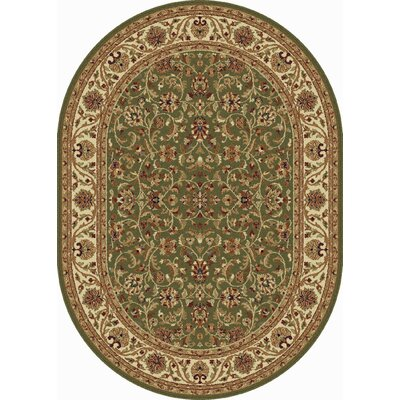 Clarence Green Area Rug Rug Size: Oval 67 x 96