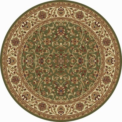Clarence Green Area Rug Rug Size: Round 6