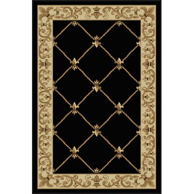 Clarence Black/Gold Area Rug Rug Size: 2 x 3