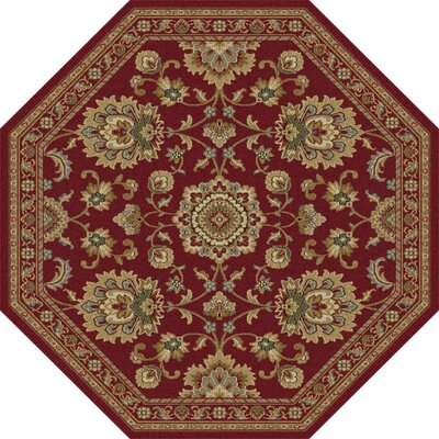 Clarence Red Area Rug Rug Size: Octagon 53