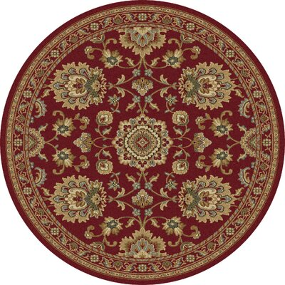 Clarence Red Area Rug Rug Size: Round 53