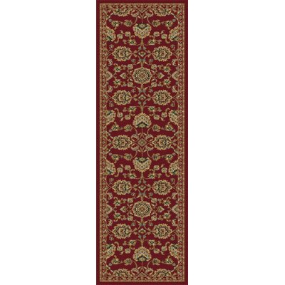 Clarence Red Area Rug Rug Size: Runner 23 x 73