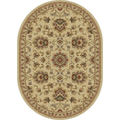 Clarence Ivory Area Rug Rug Size: Oval 7 x 10