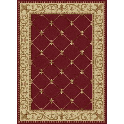 Clarence Red Area Rug Rug Size: 89 x 123