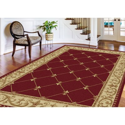 Clarence Red Area Rug Rug Size: Octagon 6