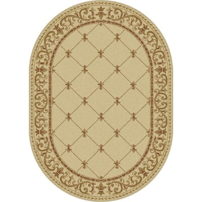 Clarence Ivory Area Rug Rug Size: Oval 53 x 73