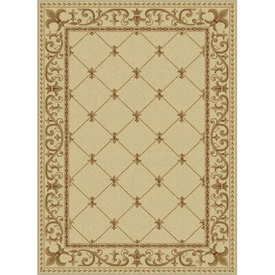 Clarence Ivory Area Rug Rug Size: 67 x 96