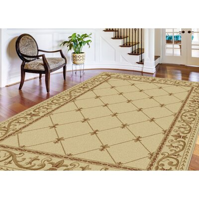 Clarence Ivory Area Rug Rug Size: Rectangle 8 x 11
