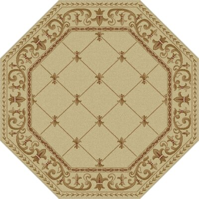 Clarence Ivory Area Rug Rug Size: Oval 67 x 96