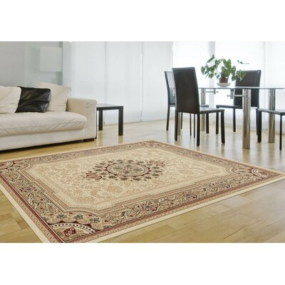 Clarence Ivory Oriental Rug Rug Size: 53 x 73