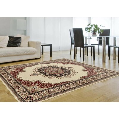 Clarence Beige/Red Area Rug