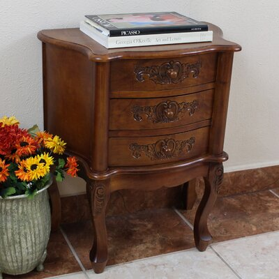 Barron 3 Drawer Nightstand