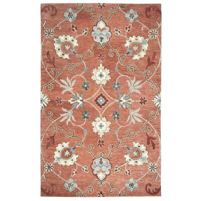Gellert Hand-Tufted Paprica Area Rug Size: Rectangle 5 x 8