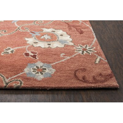 Gellert Hand-Tufted Paprica Area Rug Size: Rectangle 9 x 12