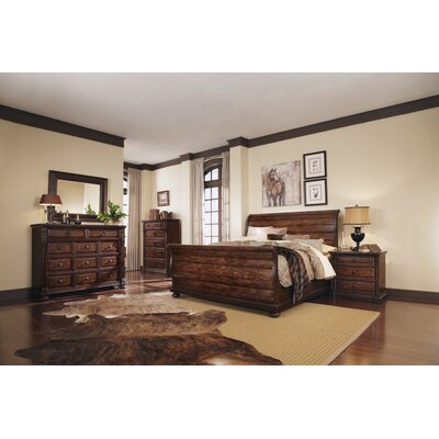 Carnaghliss Sleigh Customizable Bedroom Set-Carnaghliss Wood Bedroom Bench