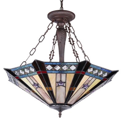 Charlotte 3-Light Bowl Pendant