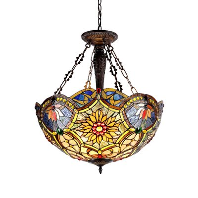 Laurie 3-Light Inverted Ceiling Pendant